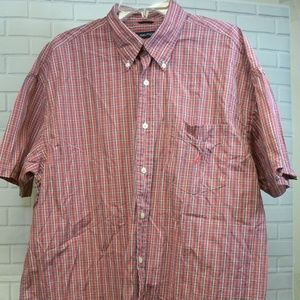 Nautica 80s Two Ply Cotton Button Front Shirt XL